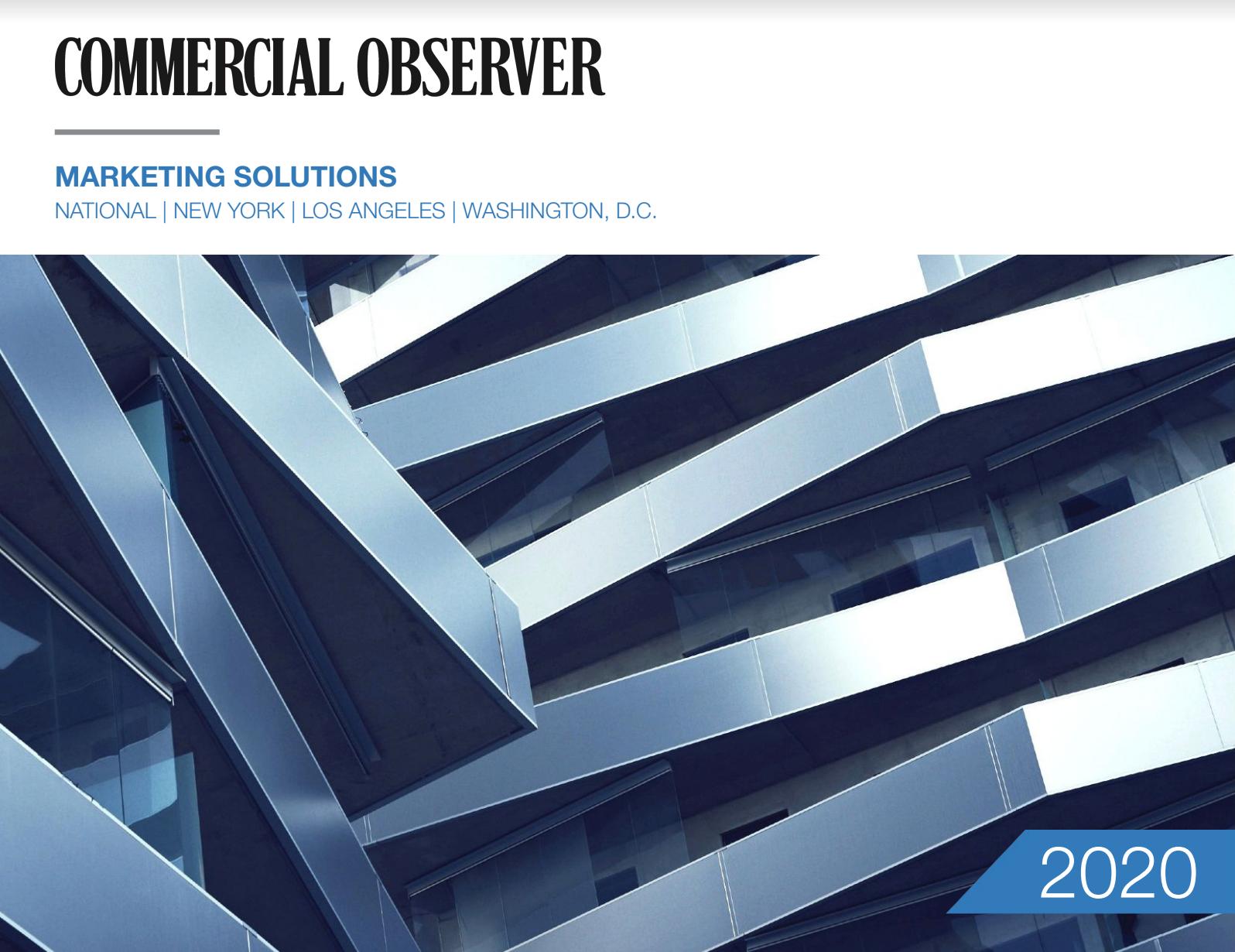 Commercial Observer Marketing Solutions Media Kit 2019
