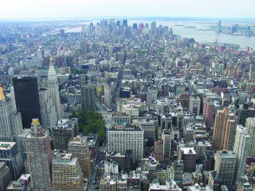 A view of lower Manhattan