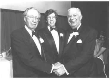 Jack Rudin, right, with brother Lewis, left, and nephew William, center.