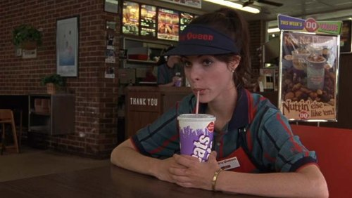 "Parker Posey as a Dairy Queen employee in ""Waiting for Guffman"""