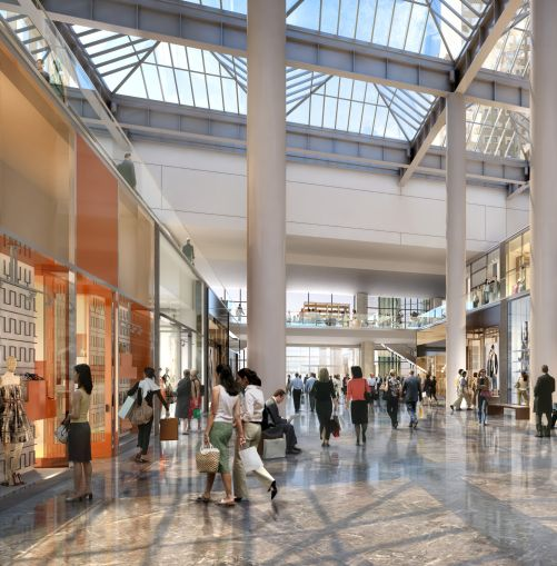 An interior rendering of the retail space slated for Brookfield Place.