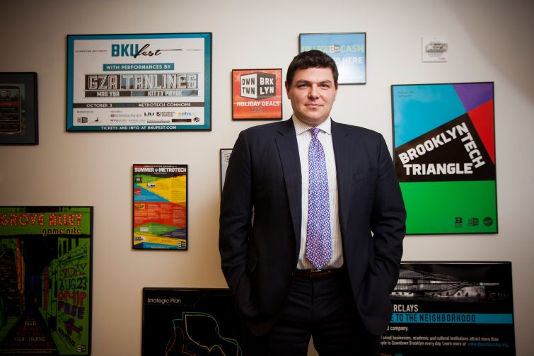 Tucker Reed, president of the Downtown Brooklyn Partnership.
