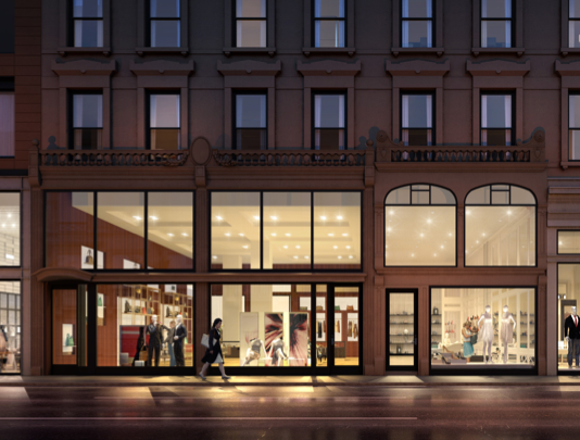Rendering of the retail space at 935 Madison Avenue.