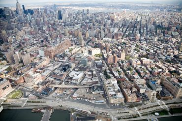 Aerial view of the Meatpacking District, where there are many Class B office properties. Photo: Alex S. MacLean/Landslides Aerial Photography
