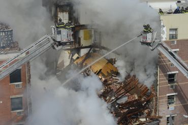 The scene following the East Harlem explosion on 116th Street and Park Avenue. (Credit:  Mayors's office)