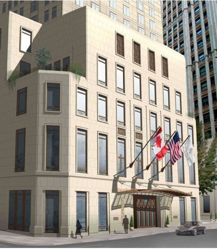 Rendering of the Four Seasons entrance at 30 Park Place. (Credit: Silverstein Properties website)