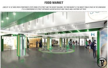 Rendering of the Turn-Style marketplace