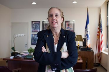 Manhattan Borough President Gale Brewer in her 1 Centre Street office.