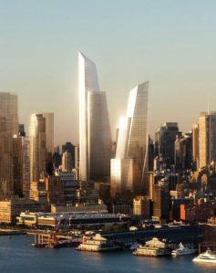 A rendering of the Hudson Yards.
