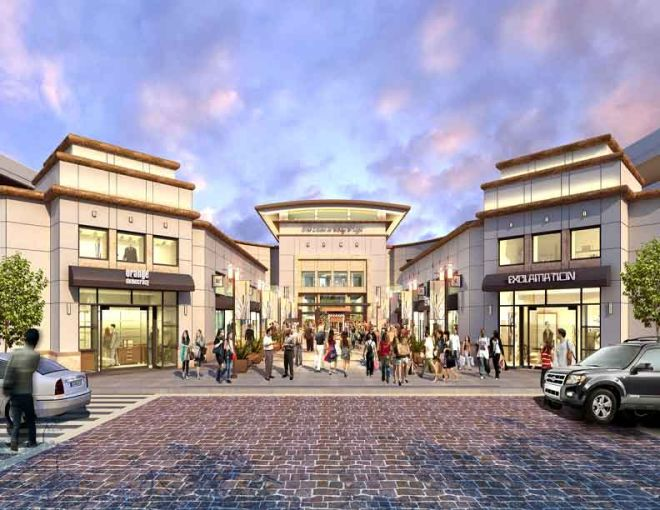 Rendering of the entry to Mall at Bay Plaza