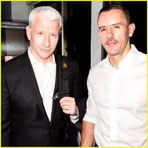 "Anderson Cooper, left, and Antoine ""Benjamin"" Maisini. (Just Jared)"