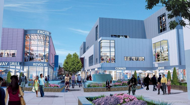 Proposed shopping center at Gun Hill Square.