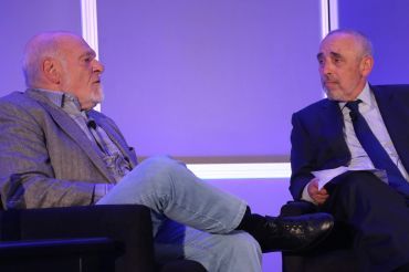 Sam Zell (left) and Thomas Flexner