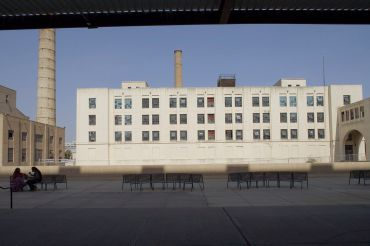 The administration building at the Brooklyn Army Terminal.