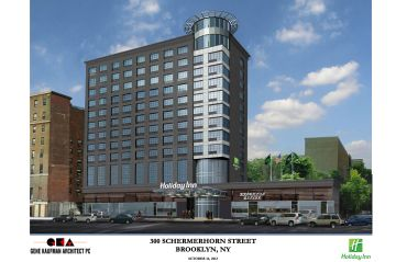 Rendering of Holiday Inn Brooklyn Nevins Station.
