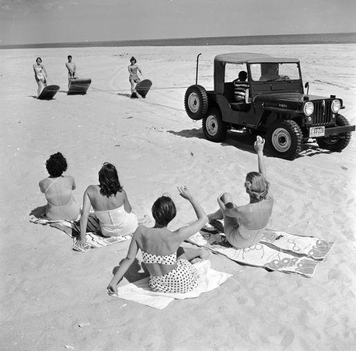 A beach near Southampton circa 1955. (Evans/Three Lions/Getty Images)