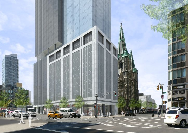 Rendering of 555 10th Avenue.
