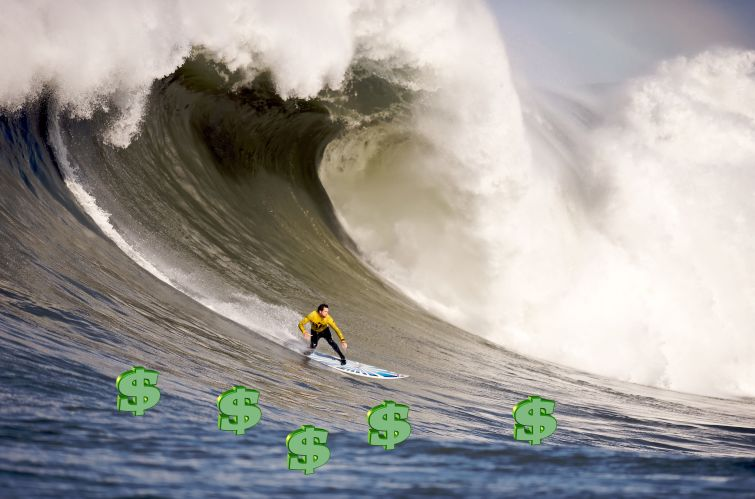 Timing is everything, in surfing and real estate.