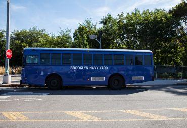 Brooklyn Navy Yard shuttle bus. (Lea Rubin)