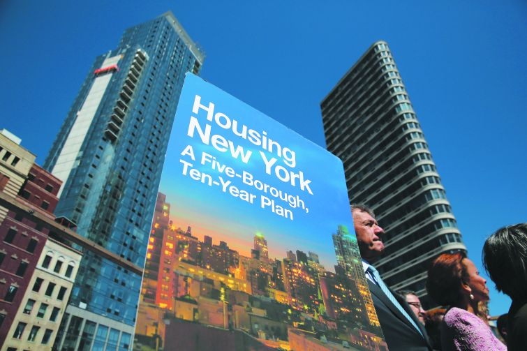 De Blasio affordable housing plan