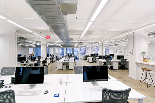 View the Space's New York City office at 142 West 36th Street.