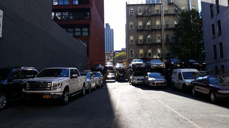 The lot that was at 322-326 West 44th Street (Photo: Lauren Elkies Schram).