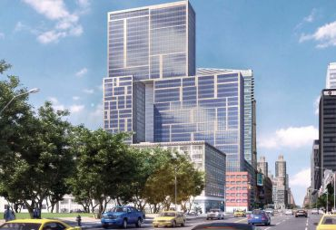 A rendering of 606 West 57th Street.