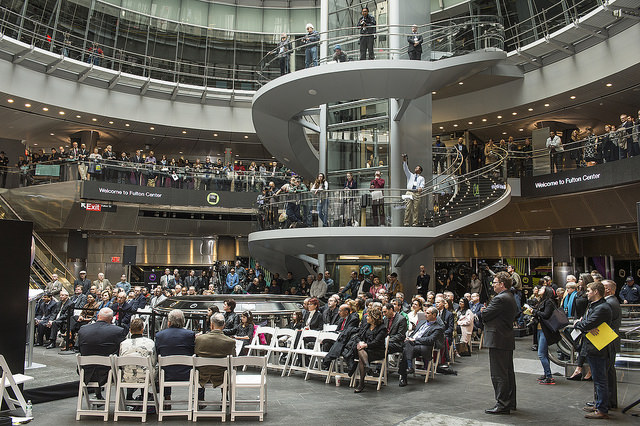 Opening of the Fulton Center.