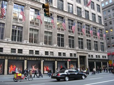 The Saks Fifth Avenue building.