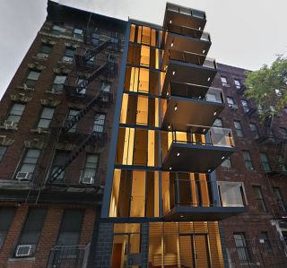 A rendering of 409 West 45th Street.