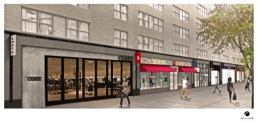 Rendering of the retail space at 2001-2017 Broadway. (Callison)