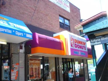 One of the many Dunkin' Donuts locations in Queens.