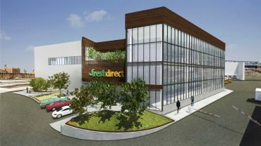 A rendering of FreshDirect's new headquarters.