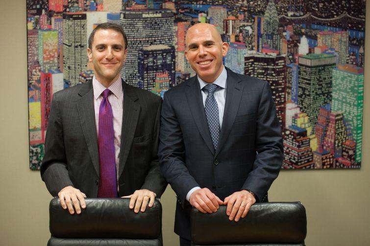 RXR Realty's Seth Pinsky and Scott Rechler, from left. (Aaron Adler)