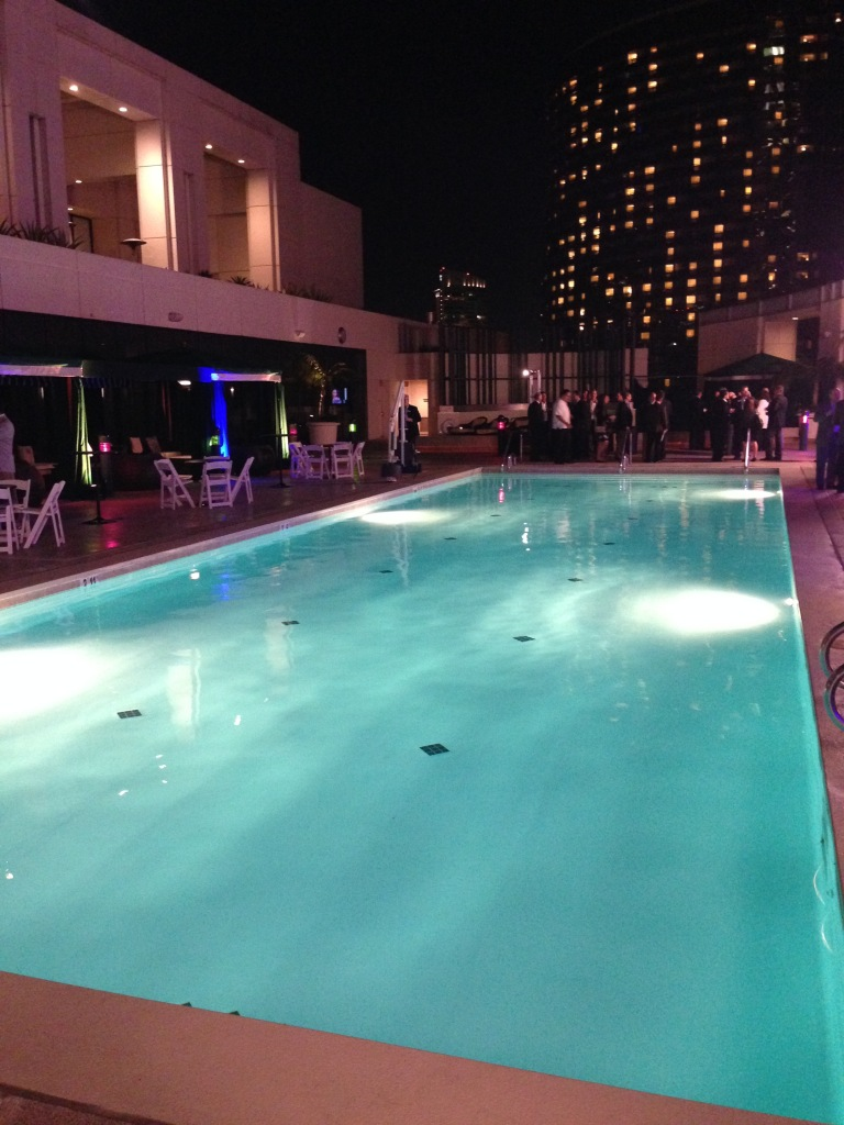 An MBA CREF pool party (Photo: Damian Ghigliotty).