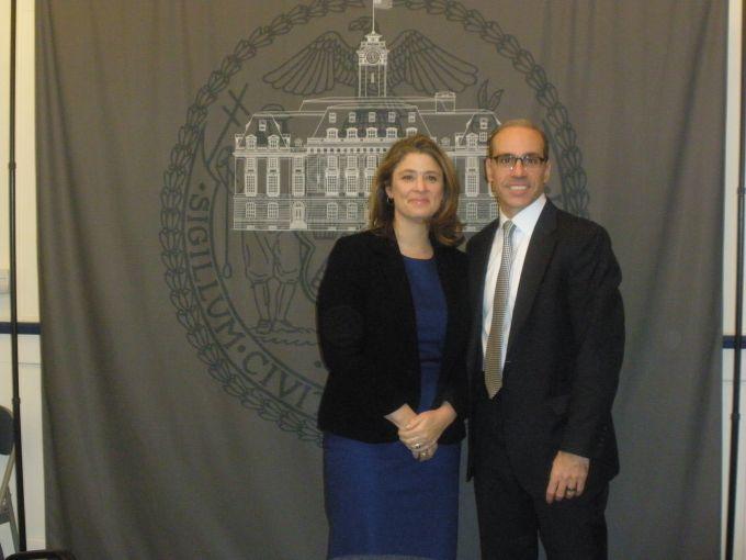 Deputy Mayor Alicia Glen and Staten Island Borough President Jimmy Oddo (Jane K. Callahan).