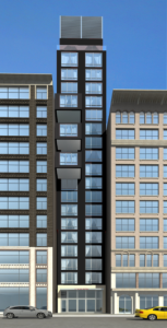 Rendering of the Prime Hotel at 17 West 24th Street.
