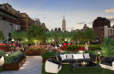 Rendering of rooftop at 50 West 23rd Street (credit: H5 Property).