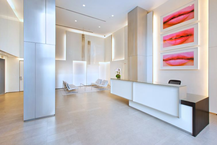 The lobby at 15 East 26th Street .