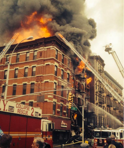 East Village fire (Photo: NYPD Special Ops)