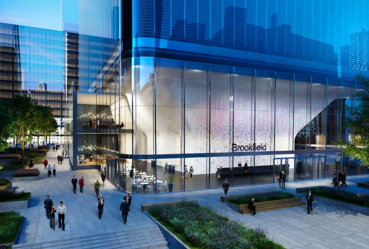 Rendering of 1 Manhattan West. Image: Brookfield Property Partners