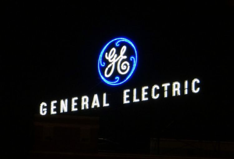 General Electric sign.