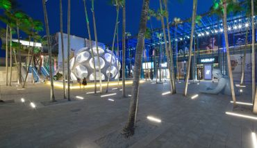 Miami Design District's Fujimoto Courtyard.