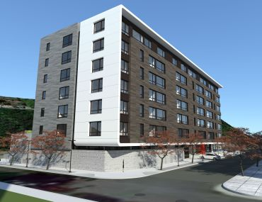 A rendering of 600 Harrison Street.