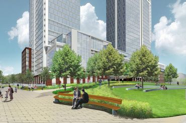 A rendering of the project at 77 Commercial Street.