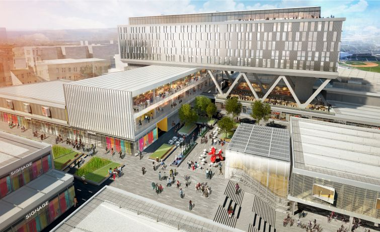 Rendering of Empire Outlets in Staten Island