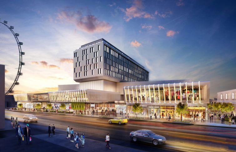 Rendering of Empire Outlets in Staten Island.