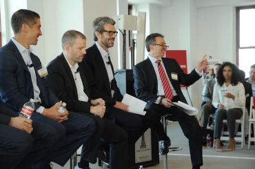 Sacha Zarba, Andrew Kimball, Anthony Malkin and Jonathan Mechanic. (Photo: Owen Hoffmann/PatrickMcMullan.com)