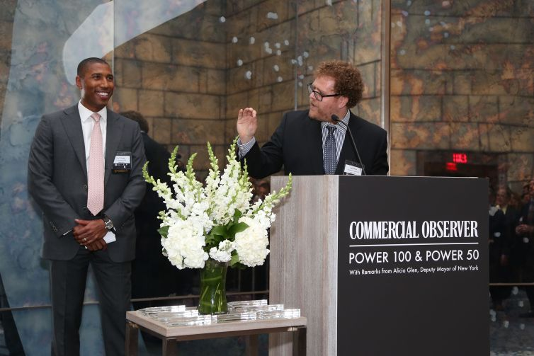 Chad Tredway, Max Gross== Commercial Observer Power 100 And Power 50== Park Hyatt New York, Onyx Room, NYC== June 17, 2015== ©Patrick McMullan== photo - J Grassi/PatrickMcMullan.com== ==