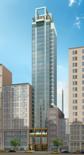 Rendering of the exterior of the tommie hotel at 11 East 31st Street.